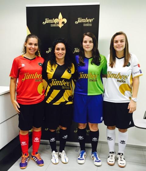 fef4cf6117b5e Este martes el JIMBEE Roldan Fútbol Sala Femenino presentó en el  Ayuntamiento de Torre Pacheco sus nuevas equipaciones para la temporada  2015 2016.